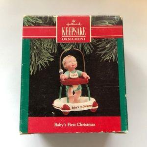 "Hallmark ""Baby's First Christmas"" 1990 ornament"